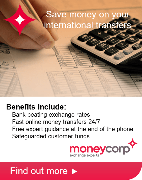 Moneycorp have a special deal for customers of iFindSpain
